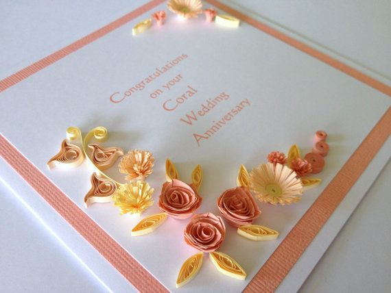 Handmade wedding anniversary greeting cards