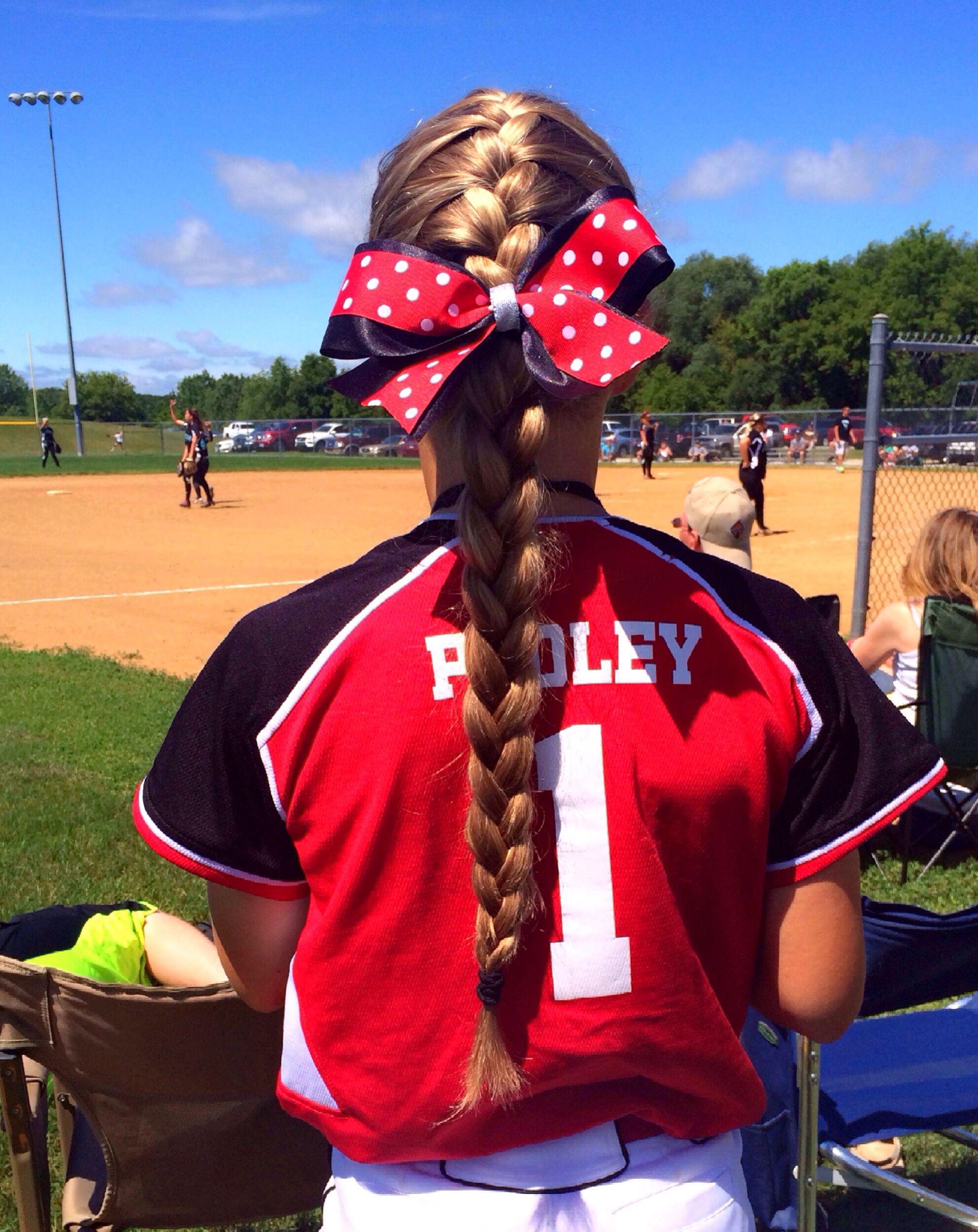 softball hair hairstyles