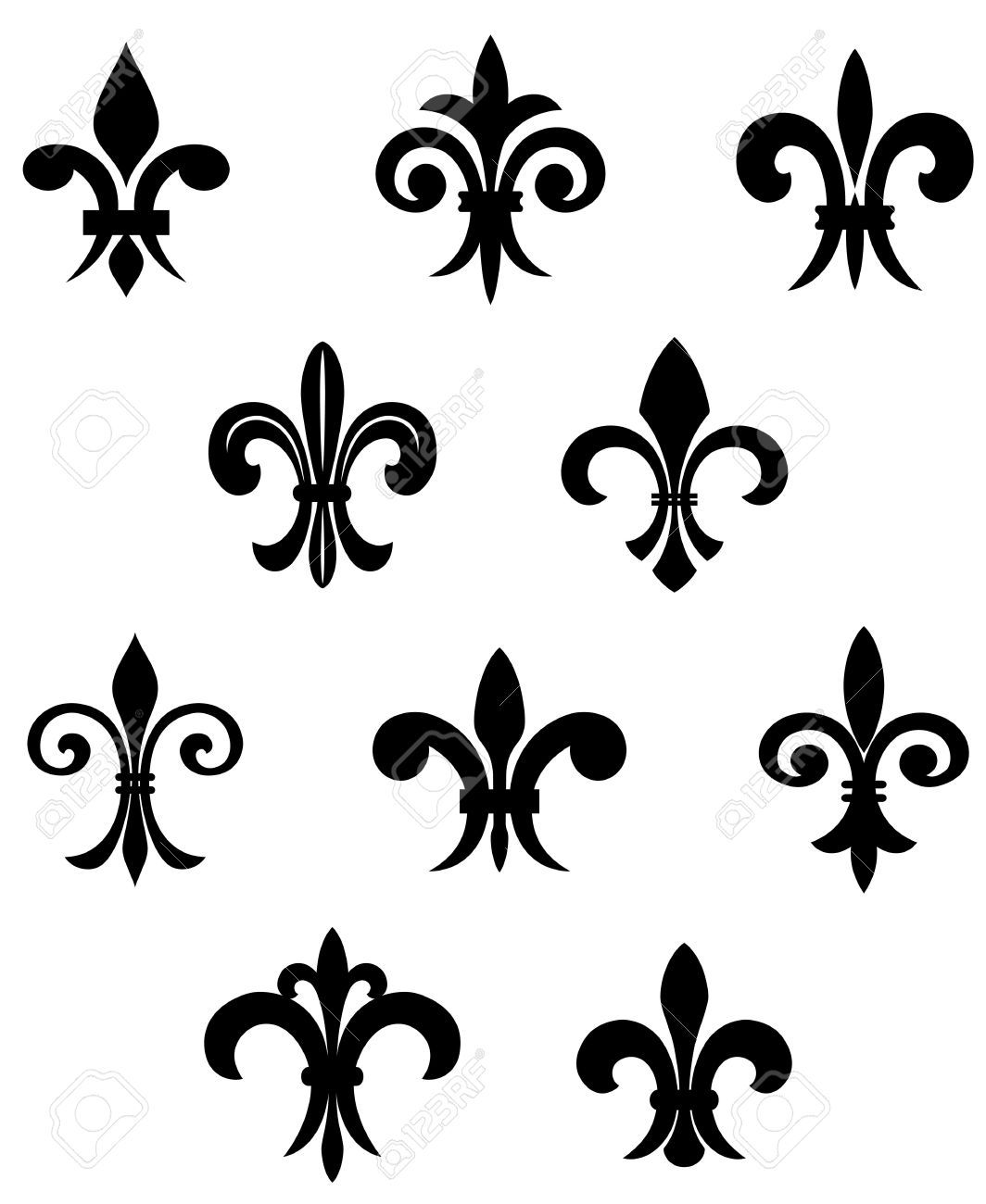 Orleans symbol cliparts stock vector and royalty free orleans illustration of royal french lily symbols for design and decorate vector art clipart and stock vectors biocorpaavc Gallery