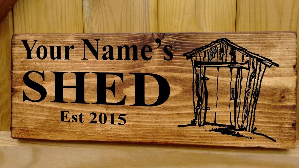 Man Cave Garage Shed Workshop Personalised wooden sign christmas Gift Idea