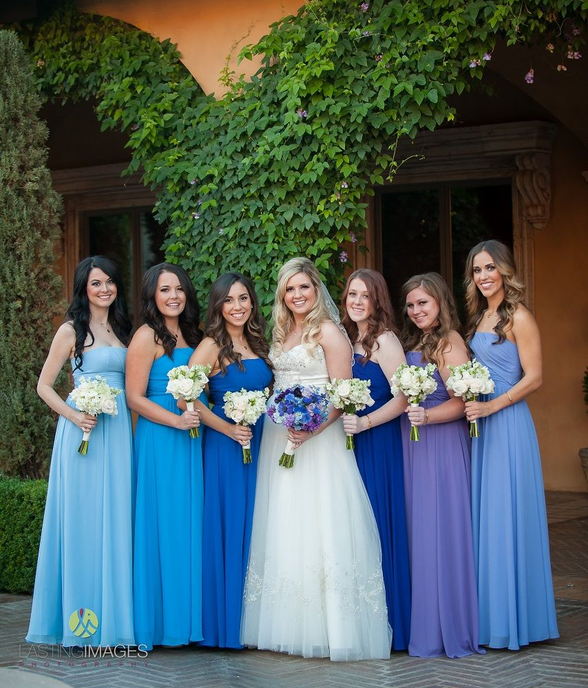 Bridesmaids in different shades of blue google search wedding bridesmaids in different shades of blue google search ombrellifo Gallery