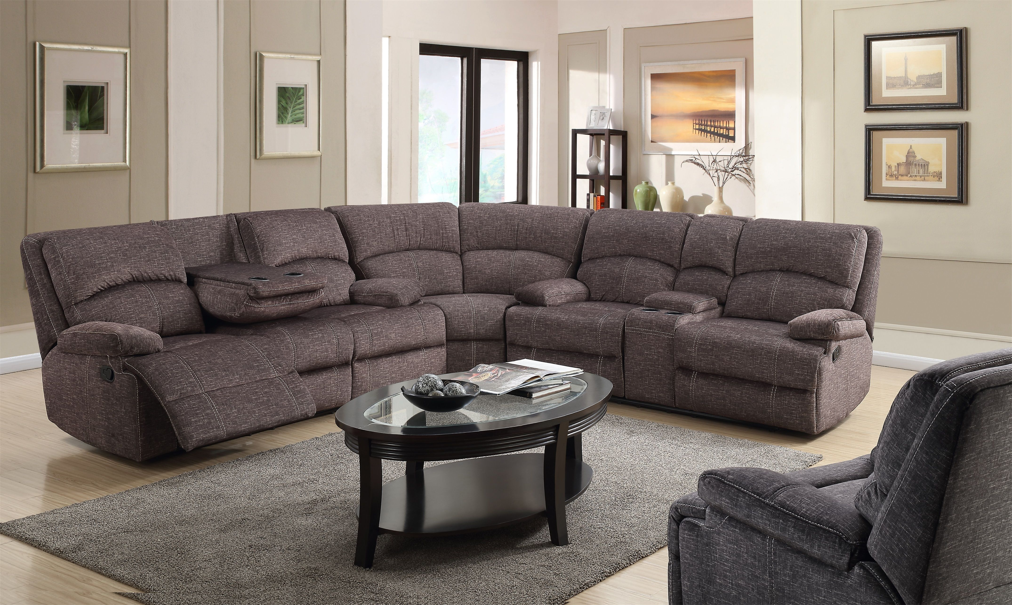 Boston 3 Pc Reclining Sectional Reclining Sectional New Living