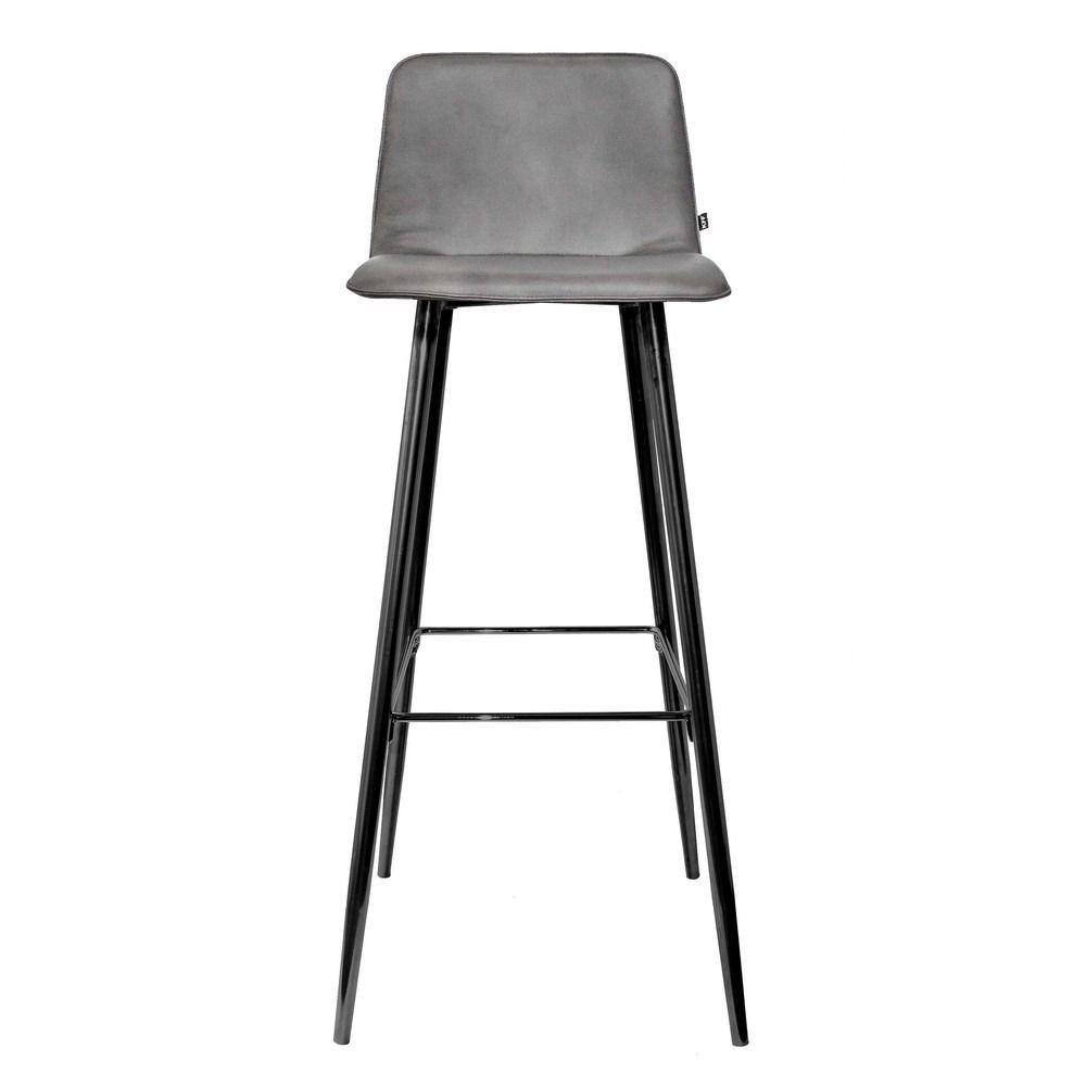 Kff Lemgo kff maverick upholstered bar stool steel legs high back bar