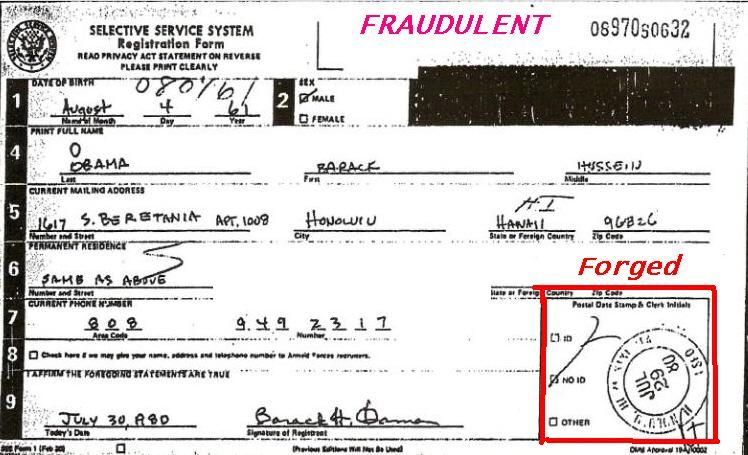 President Obamau0027s personal data is u201cnot in particular government - selective service registration form