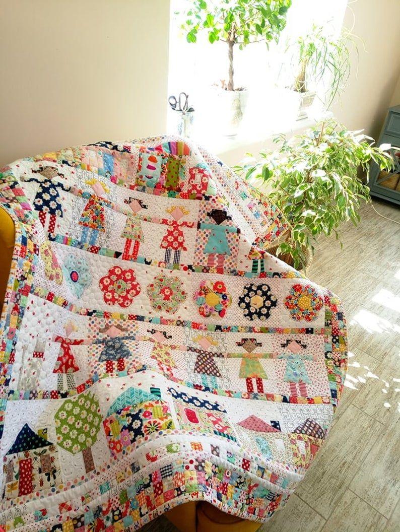 Bigger Size Baby Girl Quilt, Baby Handmade Quilt,