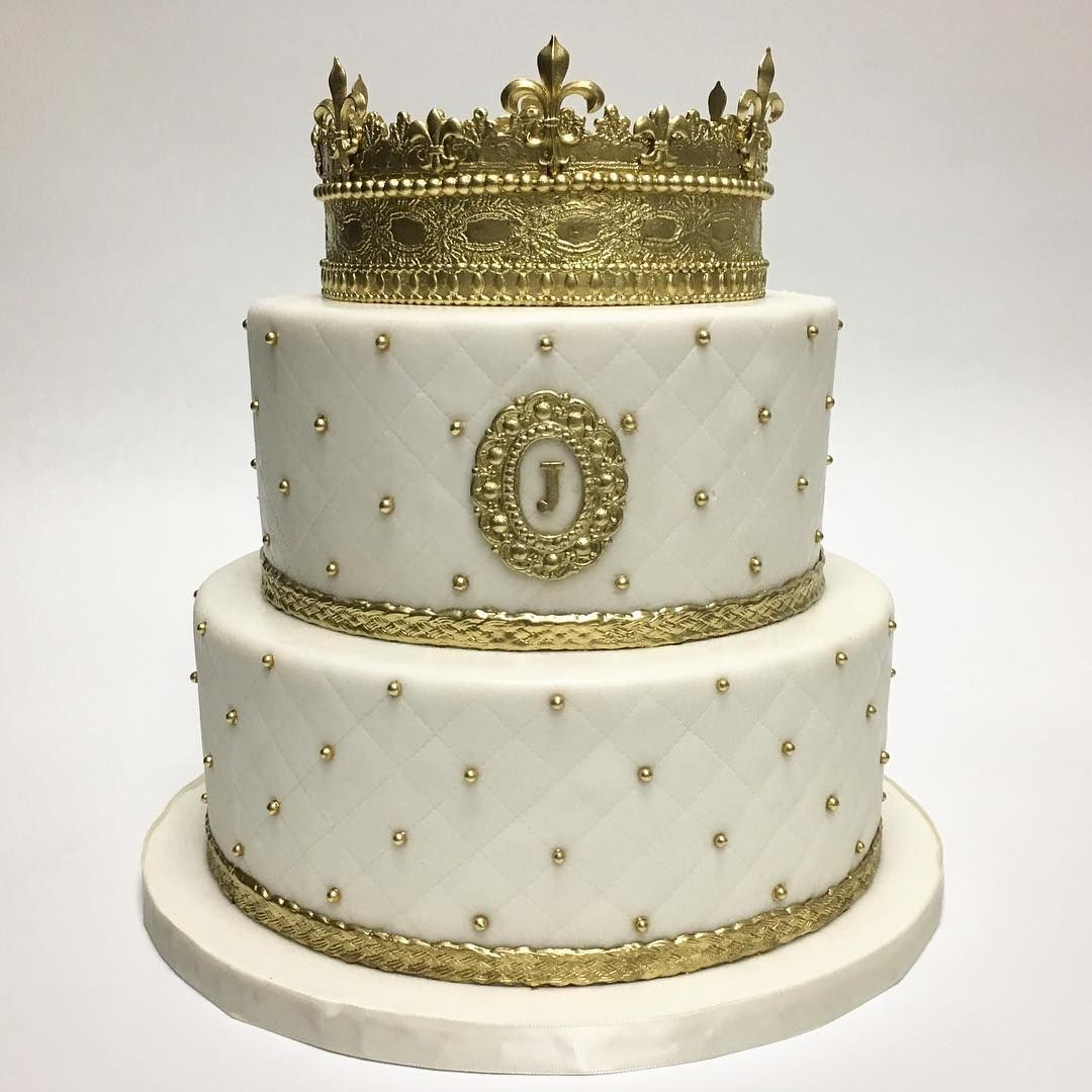 Our Signature Crown Cake Celebrating A Big Birthday