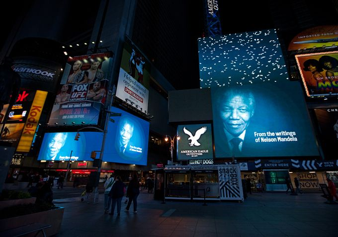 Happy 95th Birthday Madiba ...Time Square