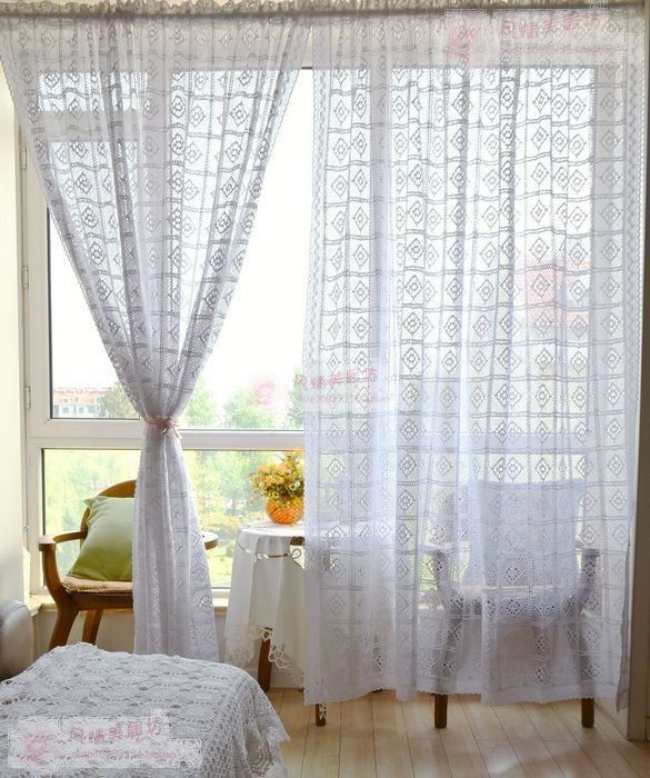 risultati immagini per schemi filet per tende uncinetto. Black Bedroom Furniture Sets. Home Design Ideas