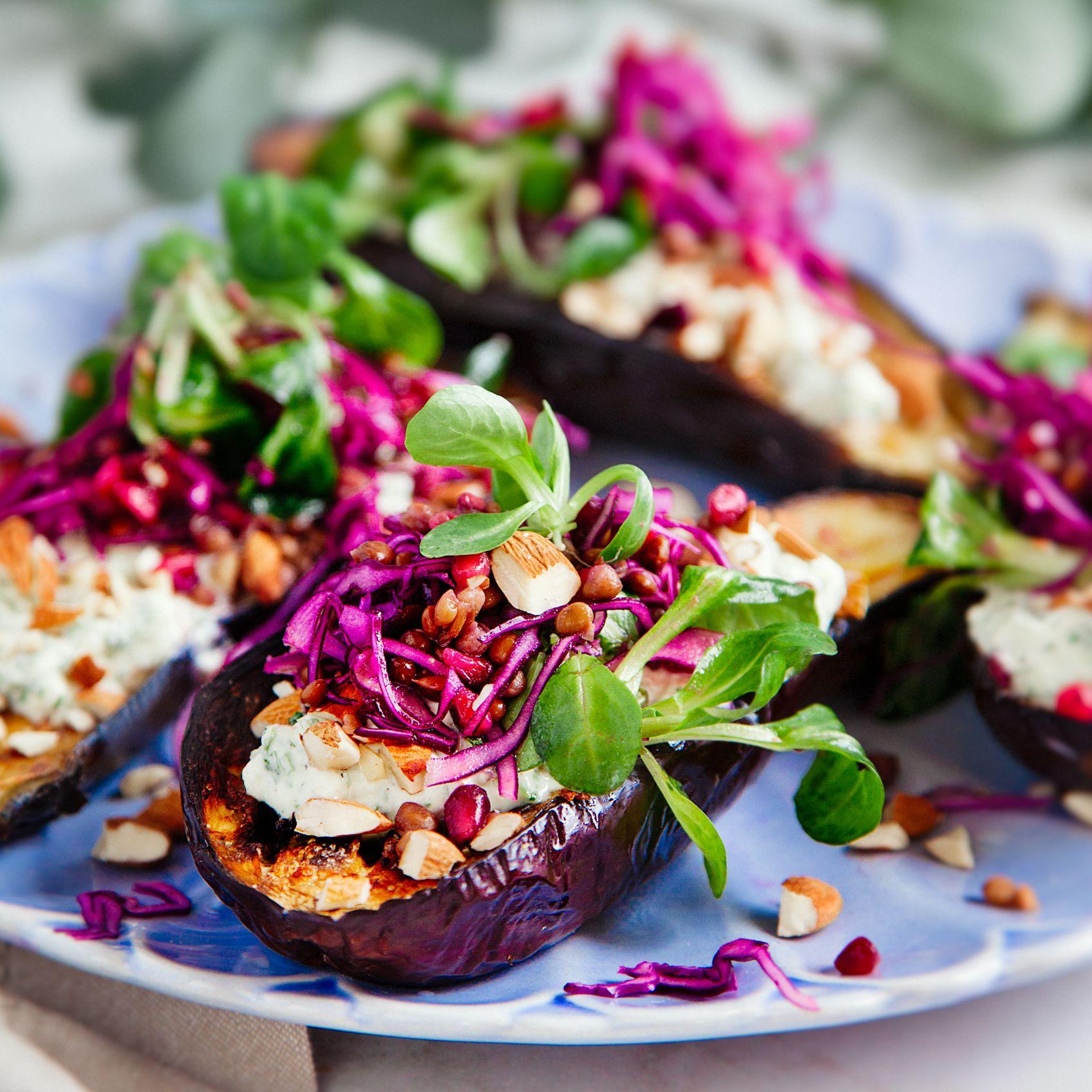 auberginegratäng med fetaost
