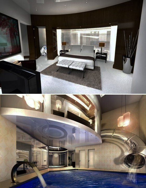 cool bedrooms with slides.