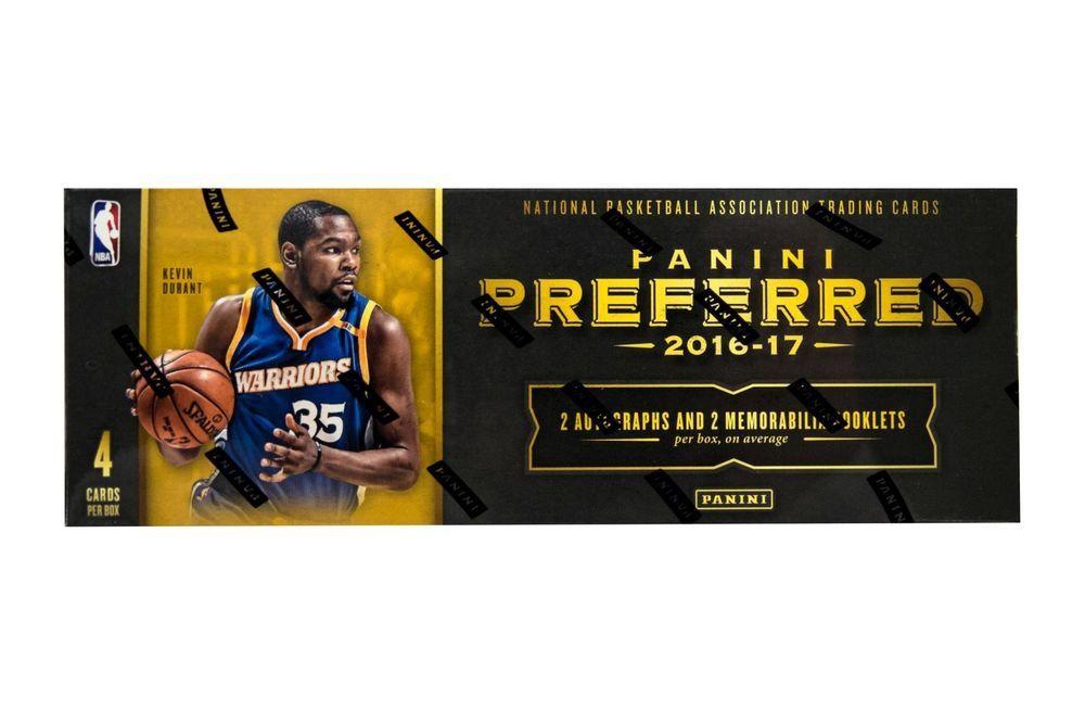 2016/17 PANINI PREFERRED BASKETBALL HOBBY BOX Basketball