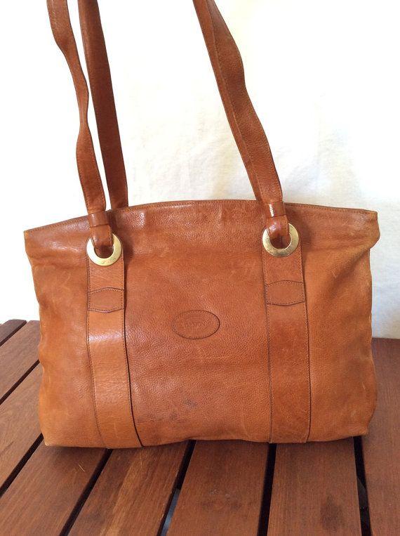 Great Worn Patina Vintage Genuine Oroton Tan Leather Hobo Shoulder Bag Satchel Made In Australia Bags Leather Hobo Oroton