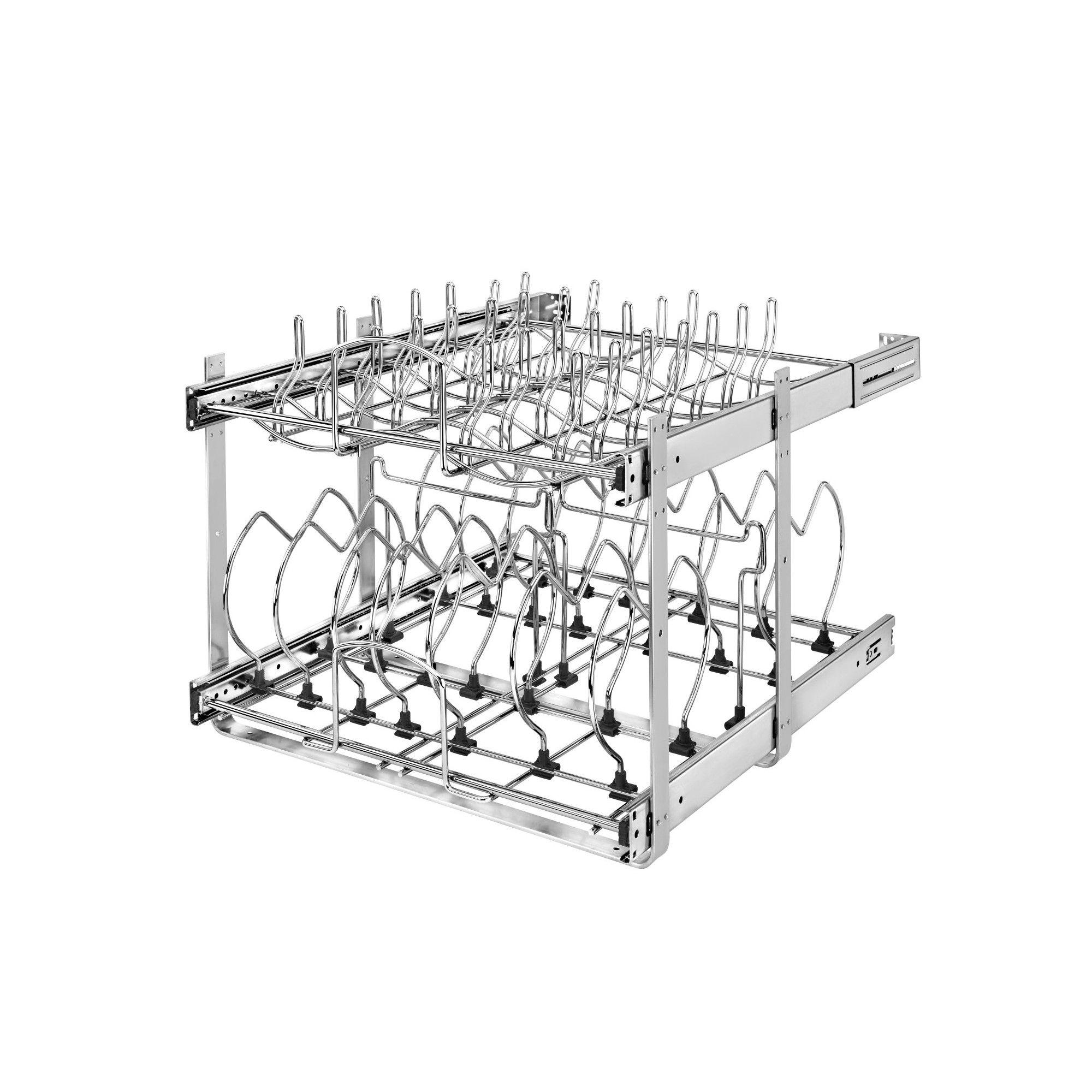 Rev A Shelf 5cw2 Series 21 Inch 2 Tier Wire Organizer For Cookware