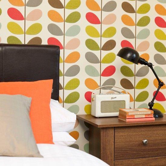 Schlafzimmer Mit Auffällig Tapete Wohnideen Living Ideas