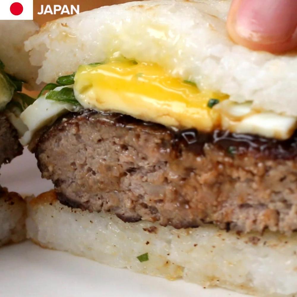 Znalezione obrazy dla zapytania Japanese Rice Burger tasty