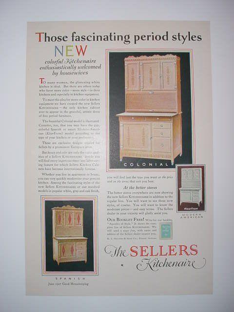 Sellers Ad 1927 Hoosier Cabinets Hoosier Cabinet Nappanee