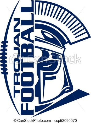 Vector Trojan Football Stock Illustration Royalty Free