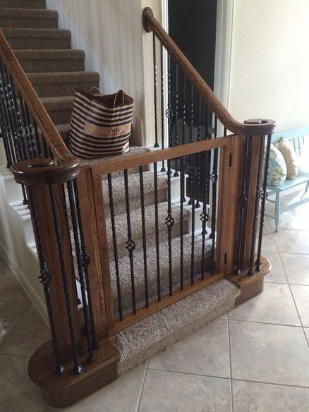 Baby/dog Gate Baby Gate For Stairs, Diy Baby Gate, Diy Dog Gate