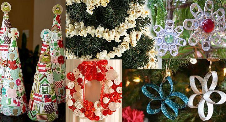 Adornos navideos reciclados fciles de hacer Ideas para el hogar