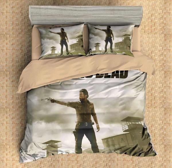 Customize The Walking Dead Bedding Set Duvet Cover Bedroom Bedlinen Three Lemons Hometextile