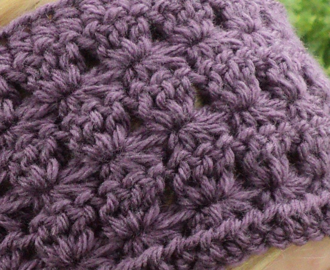 PDF - Star Stitch Wide Crochet Headband with large wooden button ...