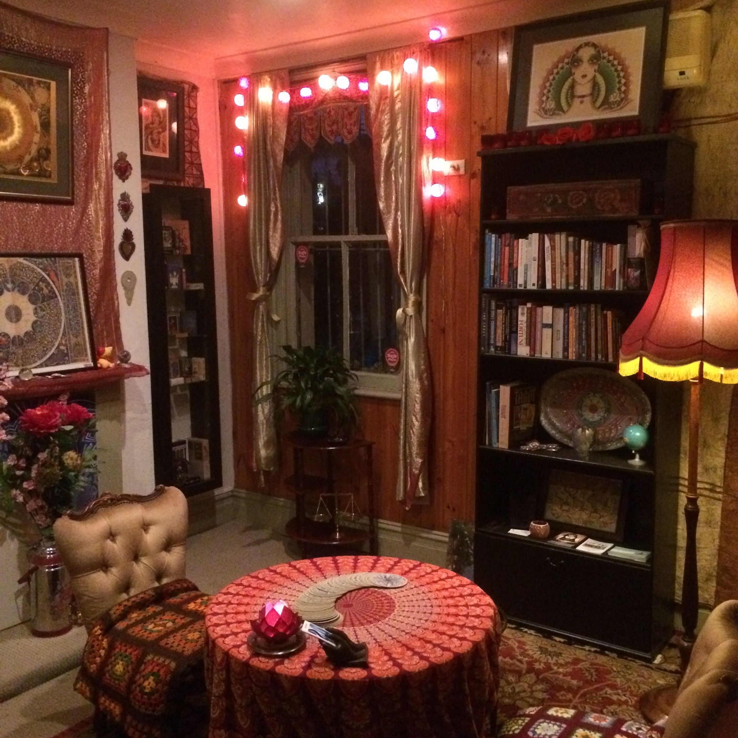 Fortune Tellers Room Halloween Decoration Idea Haunted Dollhouse