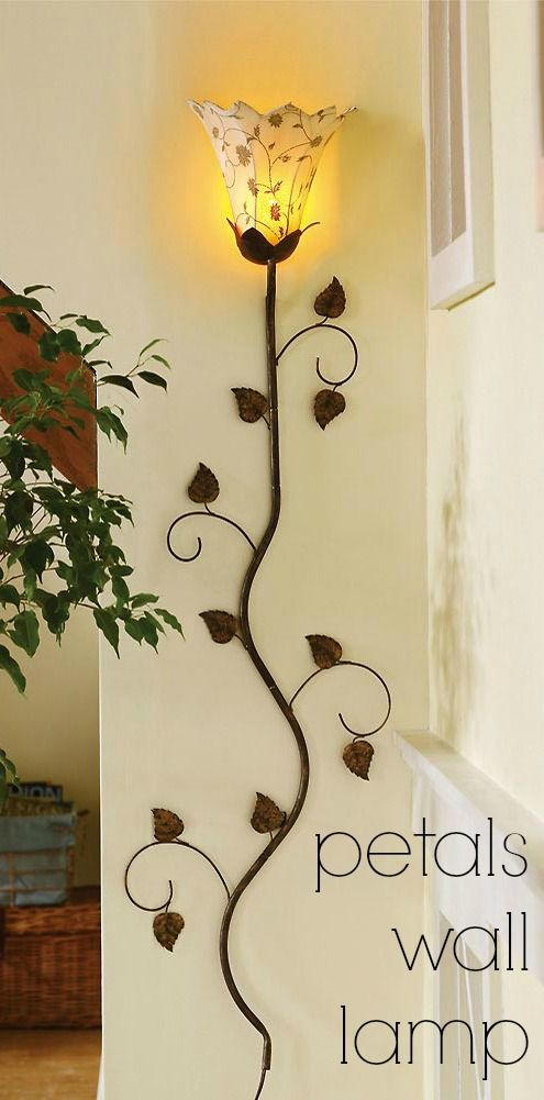 Metal Floral Petals Wall Lamp | Unique, Walls and Lights