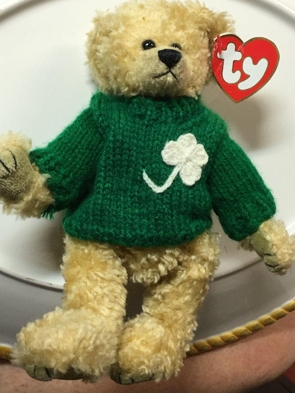 TY Beanie Babies Attic Treasures Blarney Iris Teddy Bear Jointed Plush by  LuckyLeesLabyrinth on Etsy ae3dd5e2e778