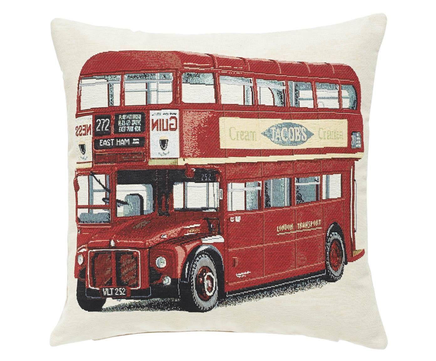 Funda de cojín London Bus
