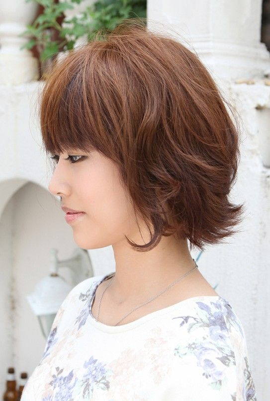 Awesome Asian Hairstyles Soft Casual Wavy Brown Bob Haircut Short Hairstyles For Women Draintrainus