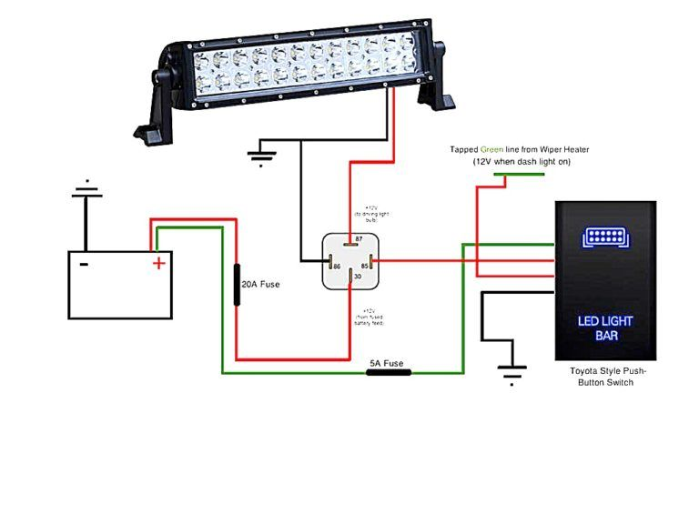 light bar wiring diagram wonderful shape led install toyota