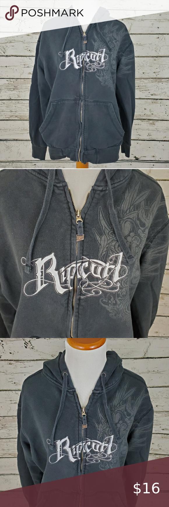 Rip Curl Black Zip Up Hoodie Sweatshirt Sweatshirts Hoodie Black Zip Ups Sweatshirts [ 1740 x 580 Pixel ]