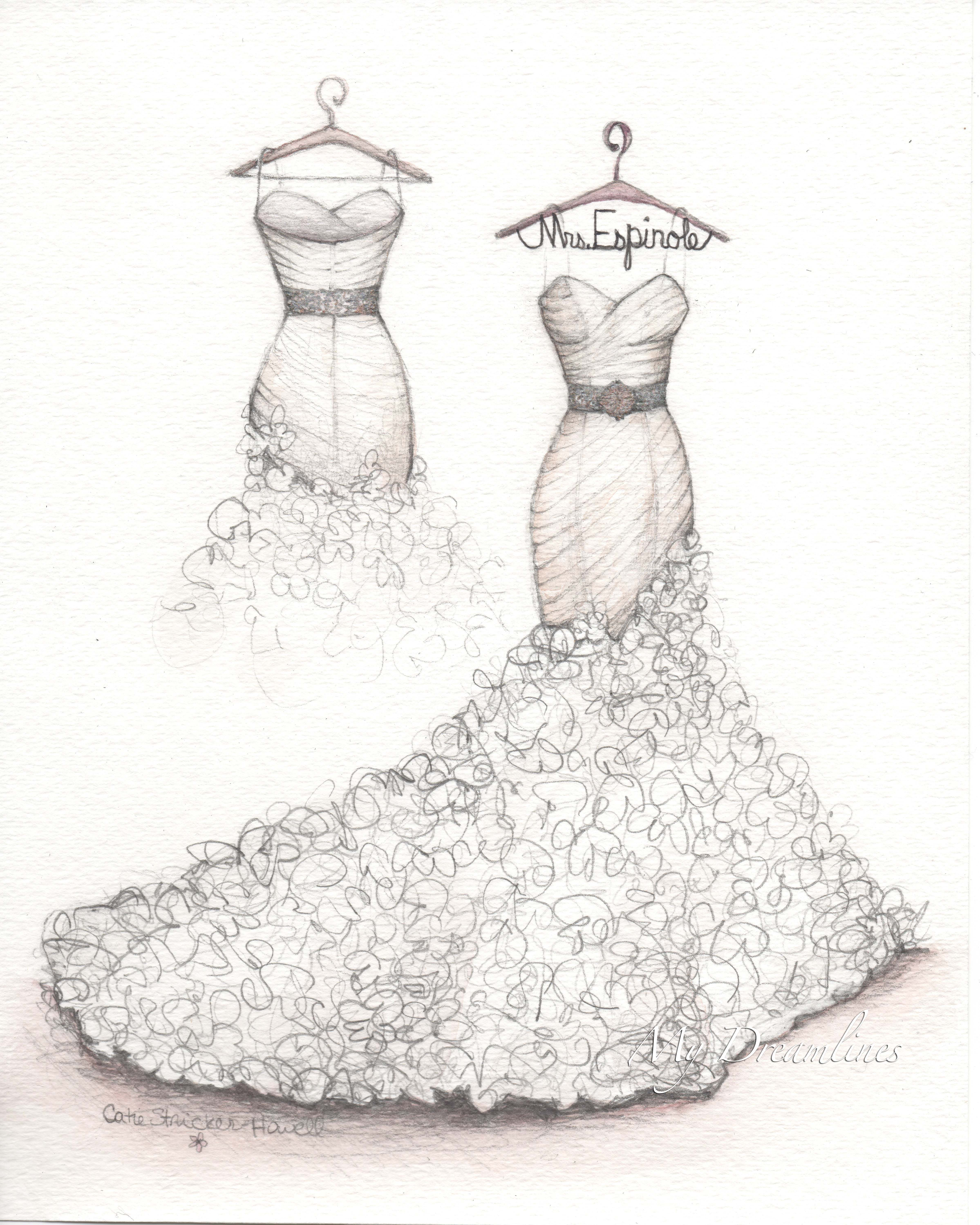 Wedding Day Gift Or 1st Anniversary Either Can Win Her Heart With A Sketch
