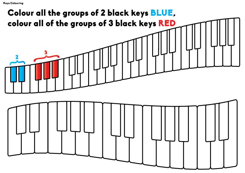 Groups Of Black Keys Worksheet With Images Learn Piano Piano