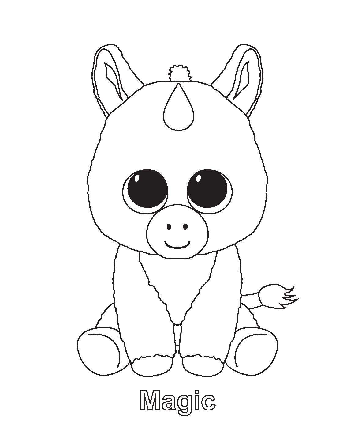 Ty Beanie Boo Coloring Pages Download And Print For Free Actiites