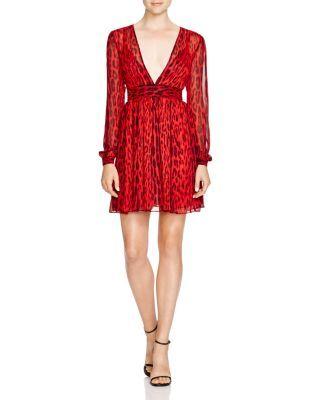 MICHAEL Michael Kors Leopard Print Chiffon Dress | Bloomingdale's