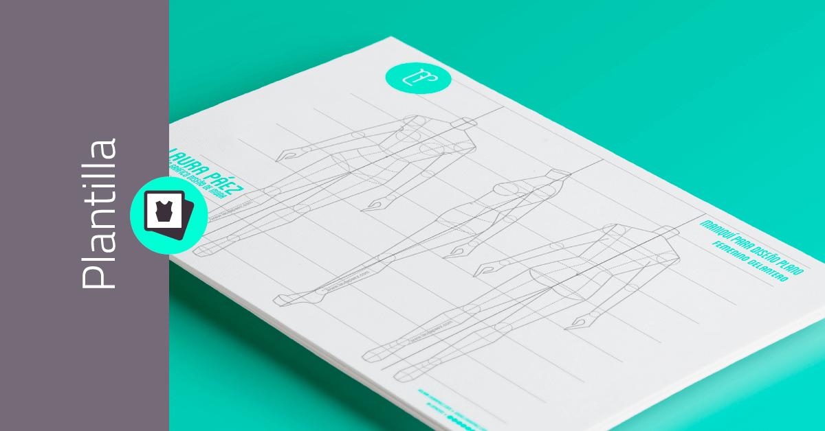 Descarga gratis Maniquí Femenino para diseño plano en jpg para imprimir y usar en diseño de moda