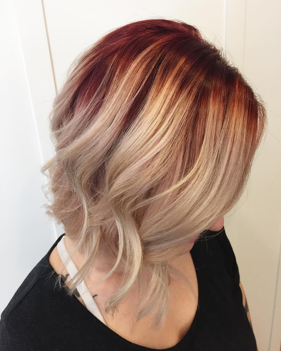 45 Inspirational Red And Blonde Hair Trend Ideas For 2017 Blonde Hair With Roots Red Roots Blonde Hair Red Blonde Hair