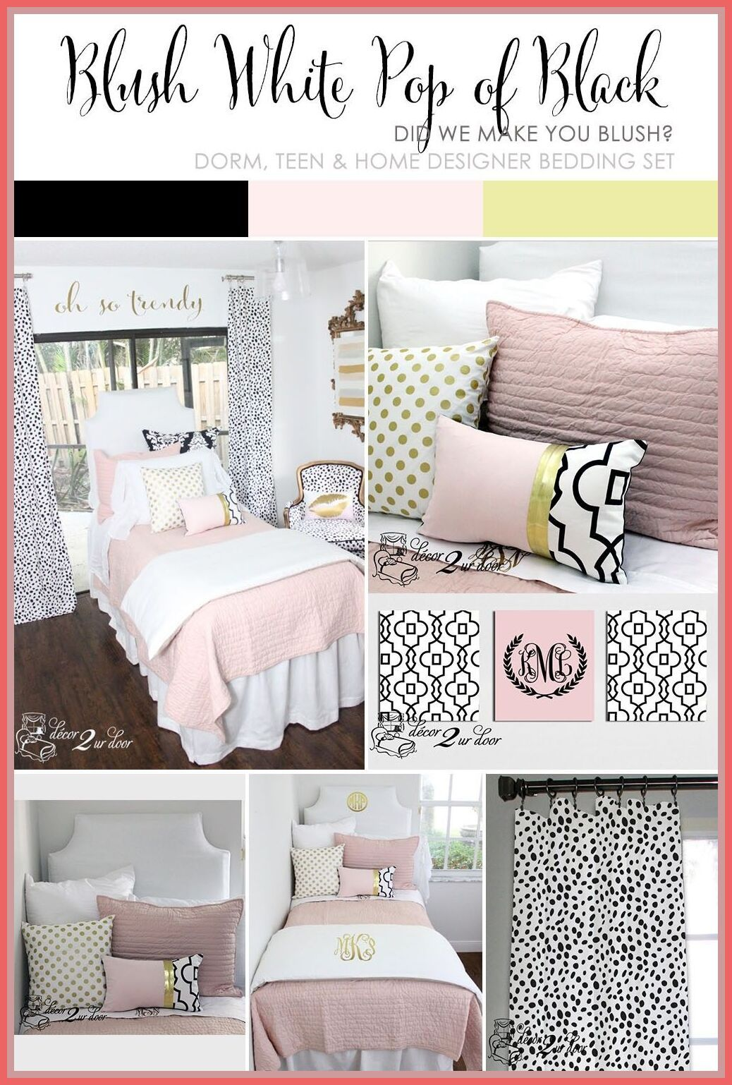Decorating A Dorm Room Check Out Decor 2 Ur Door For The Latest Dorm Room Decorating Trends We Adore This Blu White Dorm Room Dorm Room Decor Cool Dorm Rooms