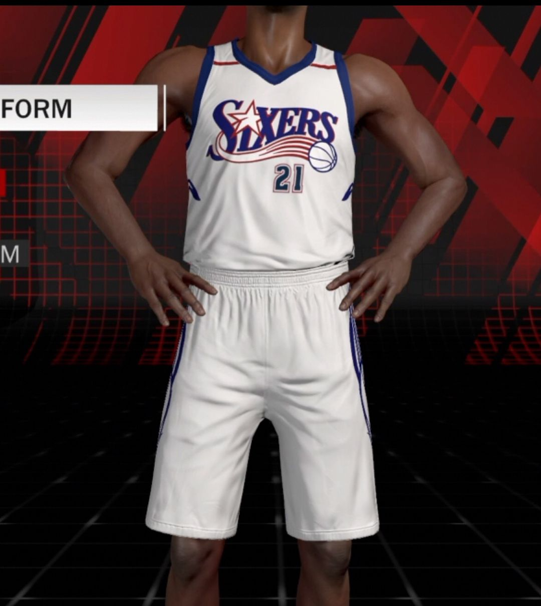 Philadelphia 76ers Jerseys Redesigned using a mix of their old logos with a  modern twist. f7032d8e5
