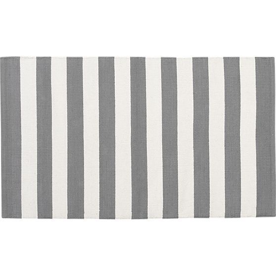 $39.95 Olin Grey 30x50 Rug in Area Rugs | Crate and Barrel