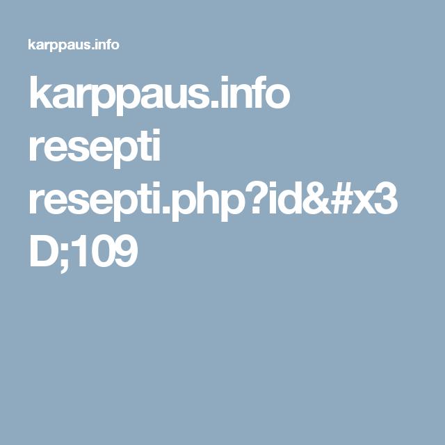 karppaus.info resepti resepti.php?id=109