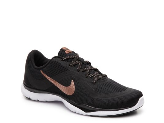 Women s Nike Flex Trainer 6 Training Shoe - - Black Rose Gold ... 1c3f513f96