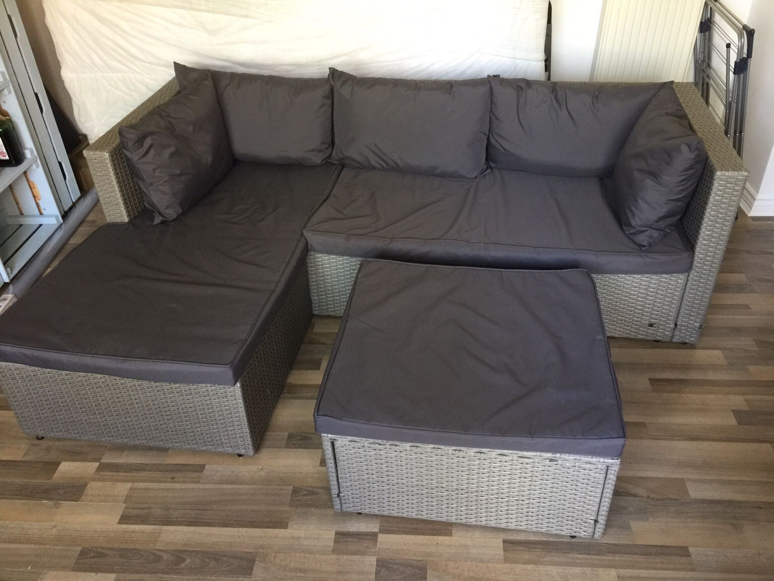 Aldi Rattan Effect Corner Sofa Set Cover In 2020 Corner Sofa Set Rattan Corner Sofa Corner Sofa Covers