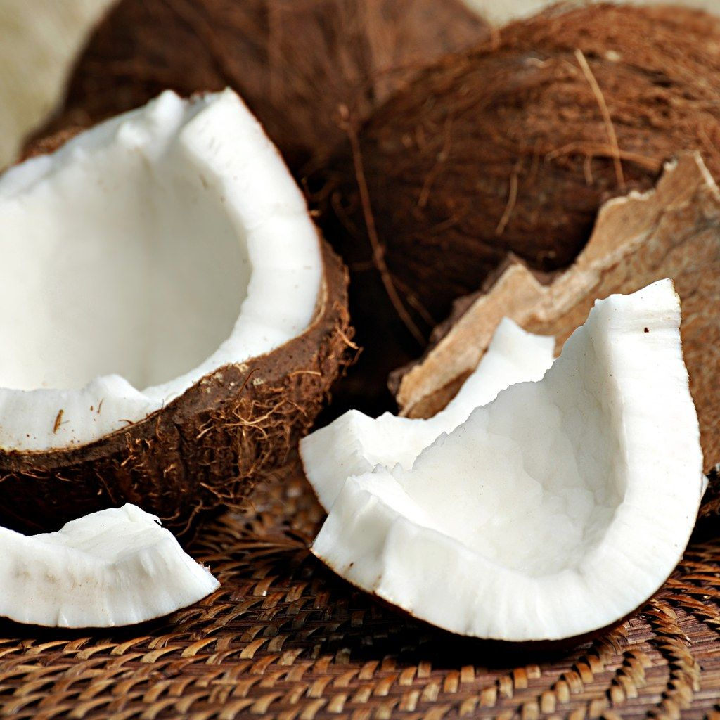 Coconut oil can actually make these hair types more dry