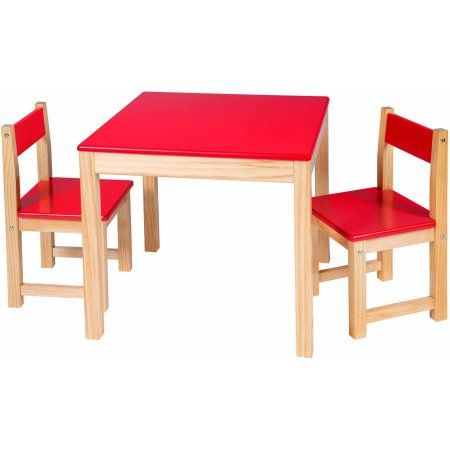 Alex Toys Artist Studio Wooden Table and Chair Set, Red