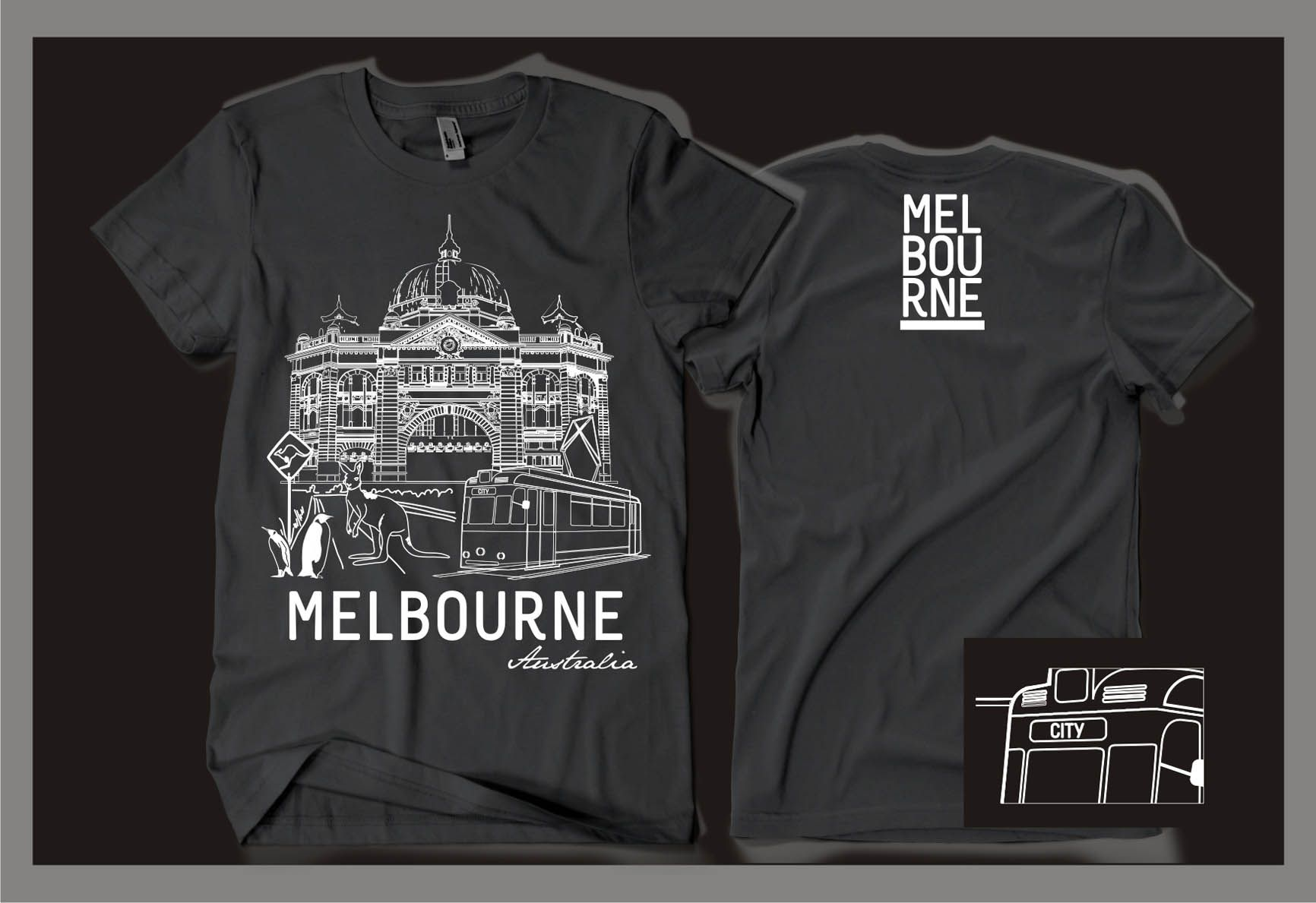 Souvenir T Shirt For Melbourne By Gravisi Graphic Design Around