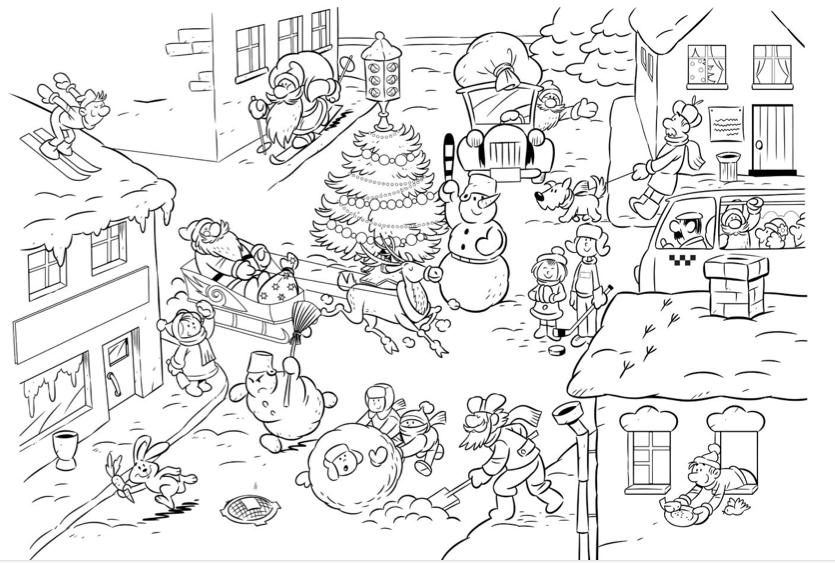 Kleurplaten Rond Kerstmis.Placemat Kerst Kerst Dorpen Kerst En Kerst Knutselen