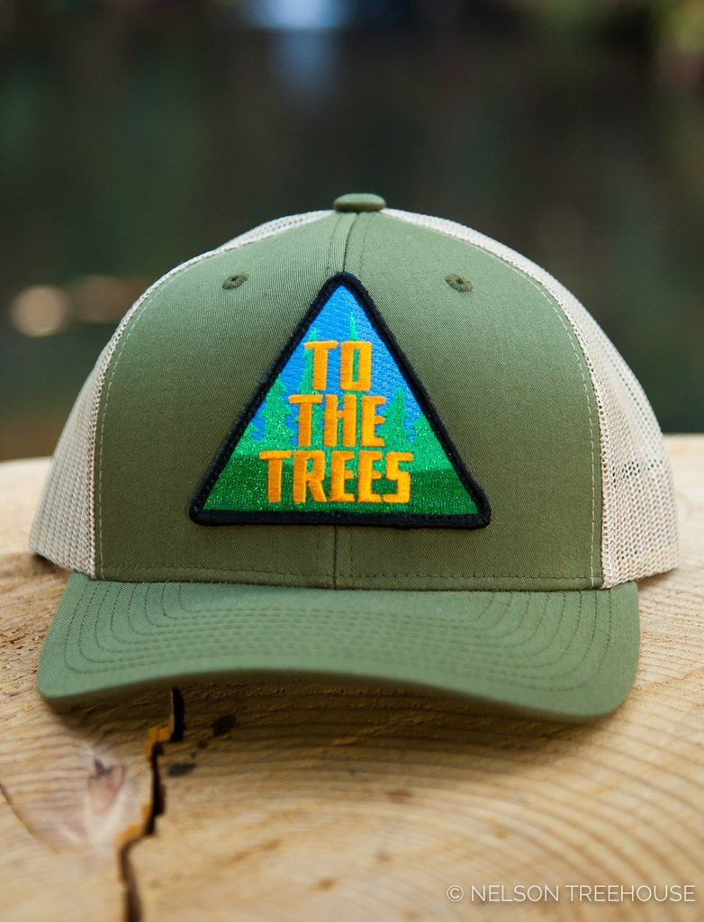47cdf3fb869 Snapback Hat with To The Trees Patch - Moss Green – Be in a Tree ...