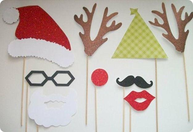 fotos navidad divertidas santa claus renos lentes barba disfraces navideos diy